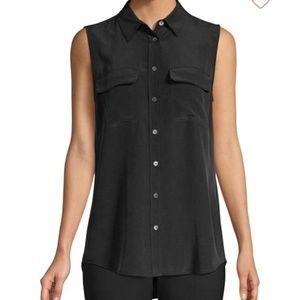 Equipment Sleeveless Silk Shirt